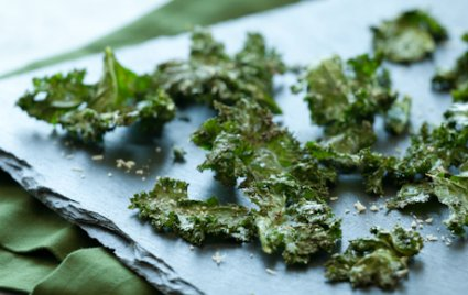 Roasted Kale Chips with Parmigiano-Reggiano