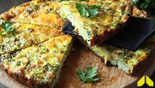 Green Eggs & Ham Frittata