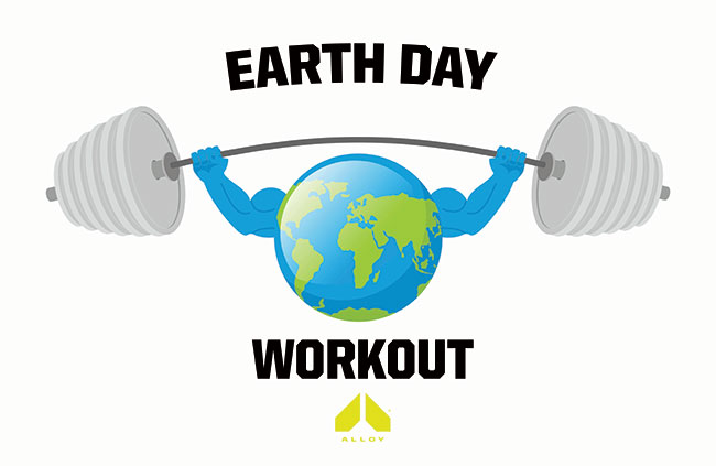 Earth Day workout logo