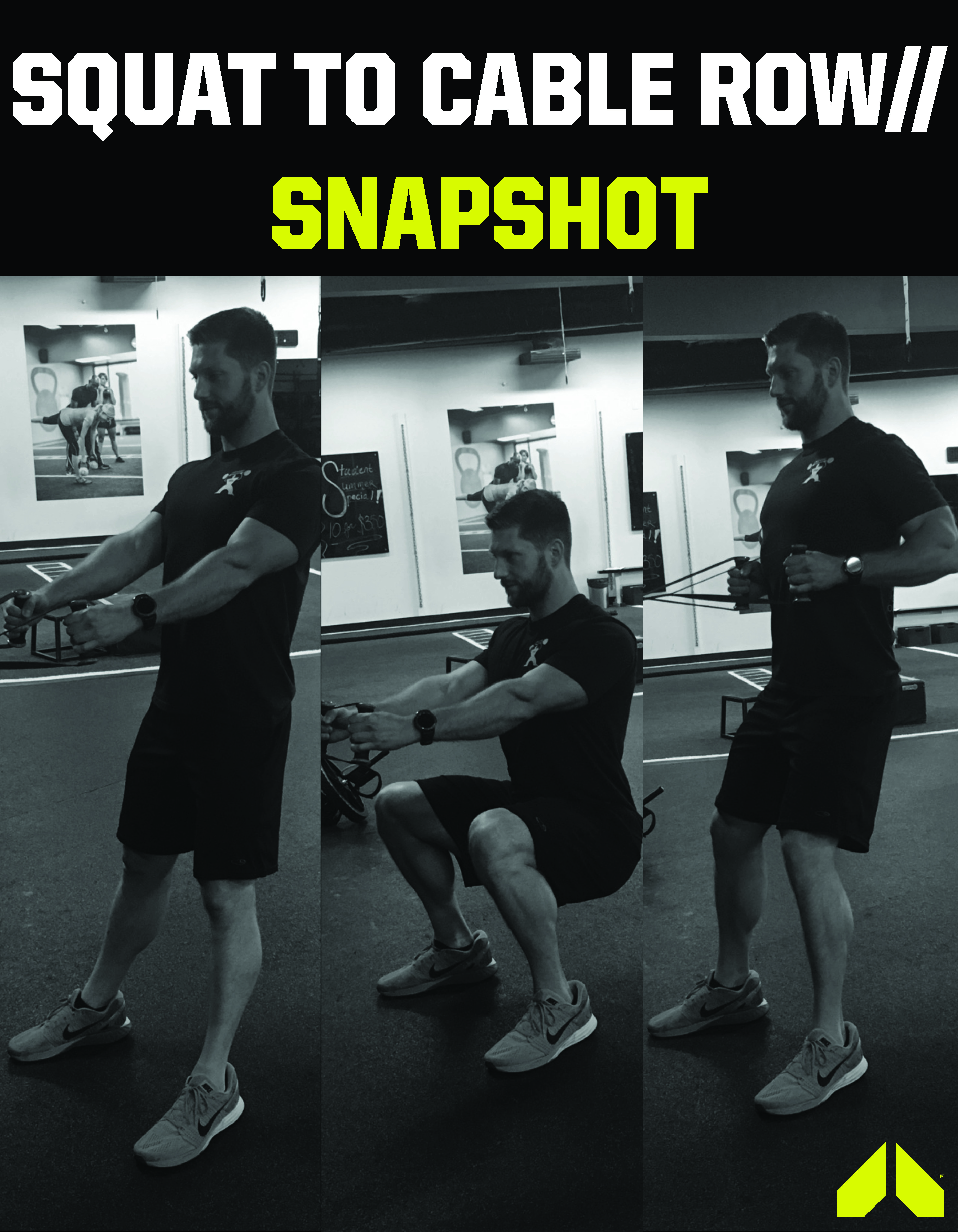 Squat to Cable Row