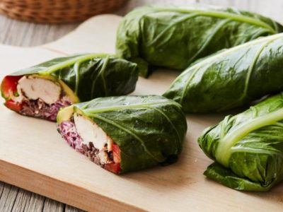 jerk chicken collard wraps
