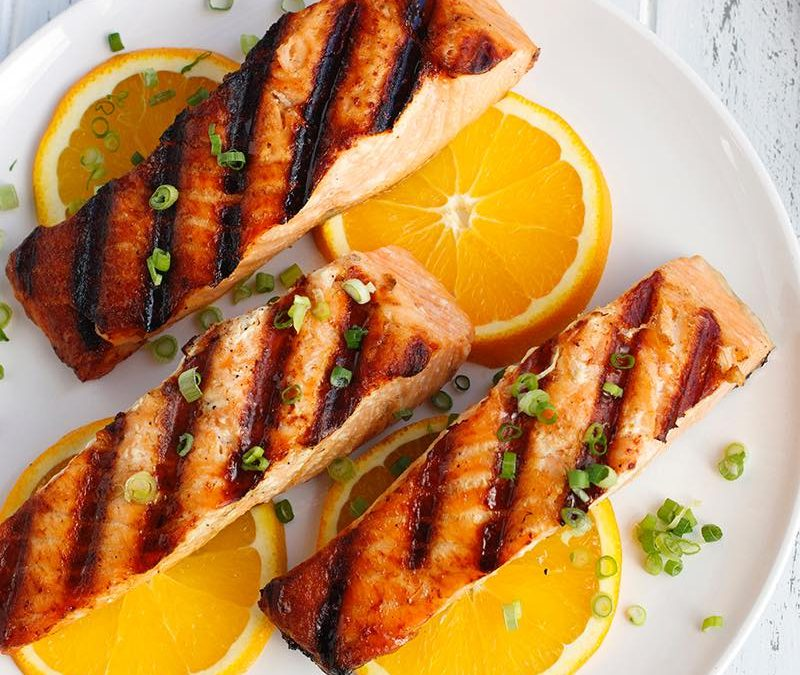 Orange and Ginger Glazed Salmon