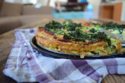 Paleo Quiche with Sweet Potato Crust