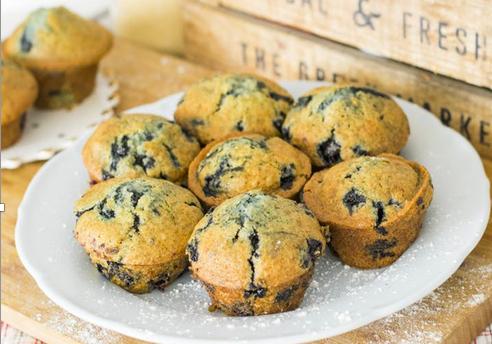 Blueberry Lemon Oatmeal Muffins
