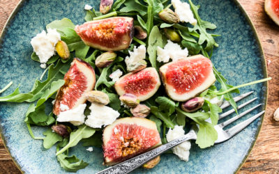 Fresh Fig & Feta Salad with Toasted Walnuts