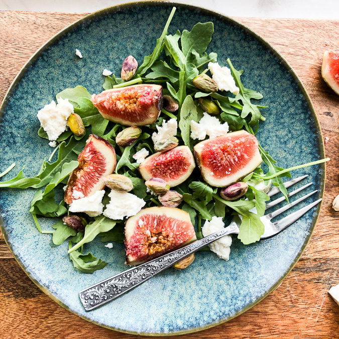 Fresh Fig & Feta Salad with Toasted Walnuts